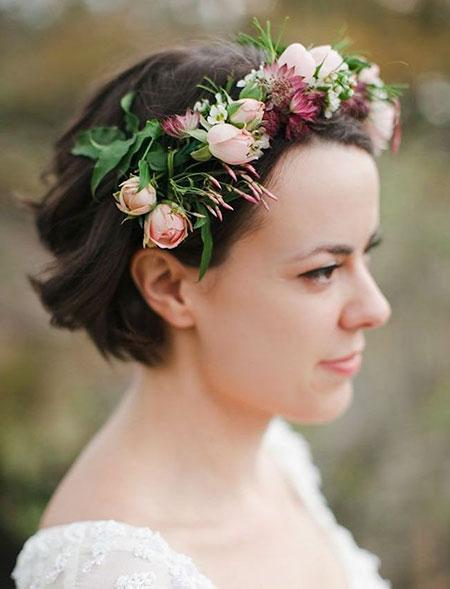 Wedding Flowers Crown Hair