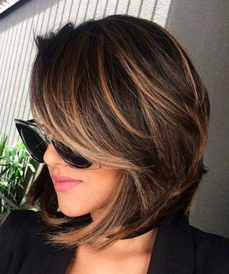 Balayage Bob Women Side