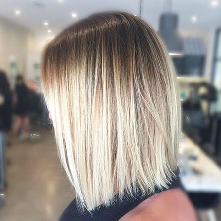 Balayage Hair Bob Straight