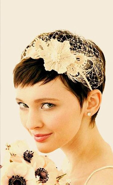 Wedding Veil Pixie Hairtyles