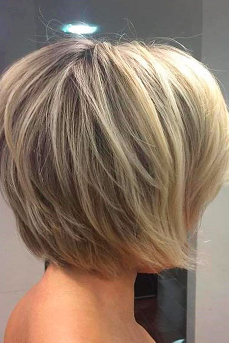 Summer Hair, Layered Bob Blonde Balayage