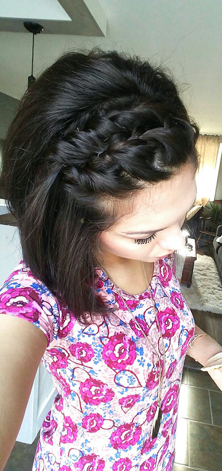 Braid Bangs, Wedding Hair Hairtyles Cute