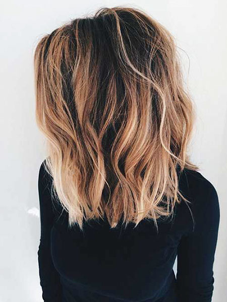 Length Hair Balayage Women