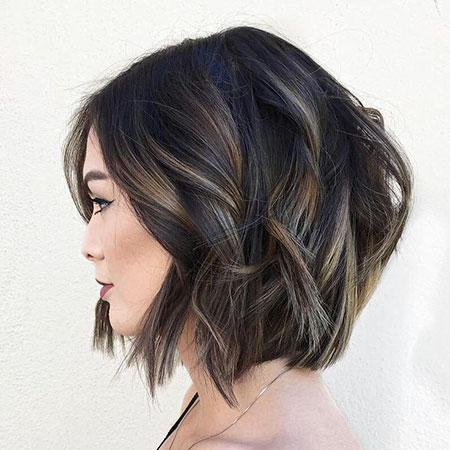 Bob Wavy Balayage Brown