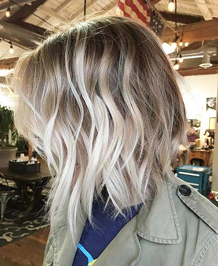 Choppy Hairtyle, Balayage Blonde Hair Choppy