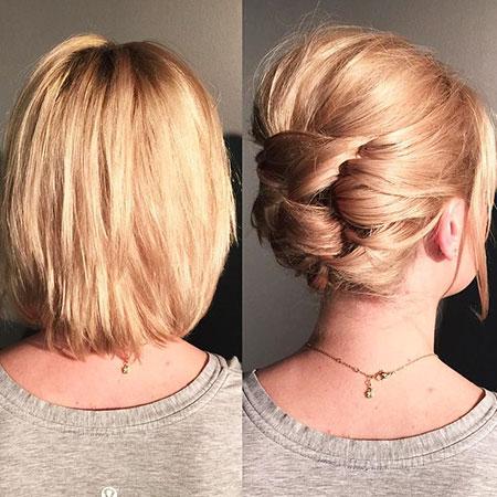 Easy Updos for Short Hair, Hair Wedding Updo Short