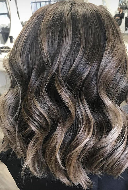 Brunette Hair Color, Balayage Hair Highlights Brown
