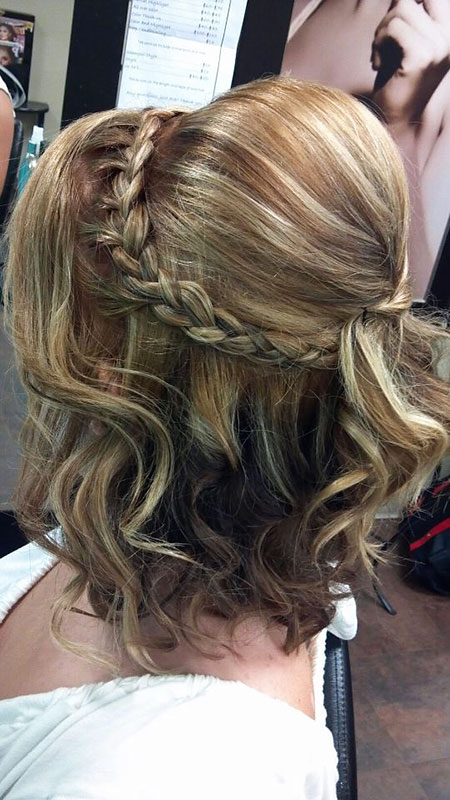 Short Hairtyle with Braid for Wedding, Wedding Hair Updo Style