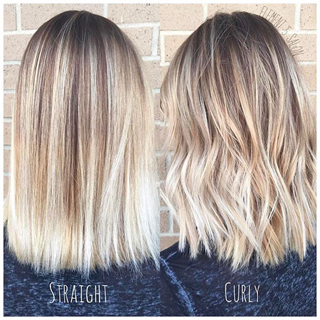 Blonde Balayage Straight Hair