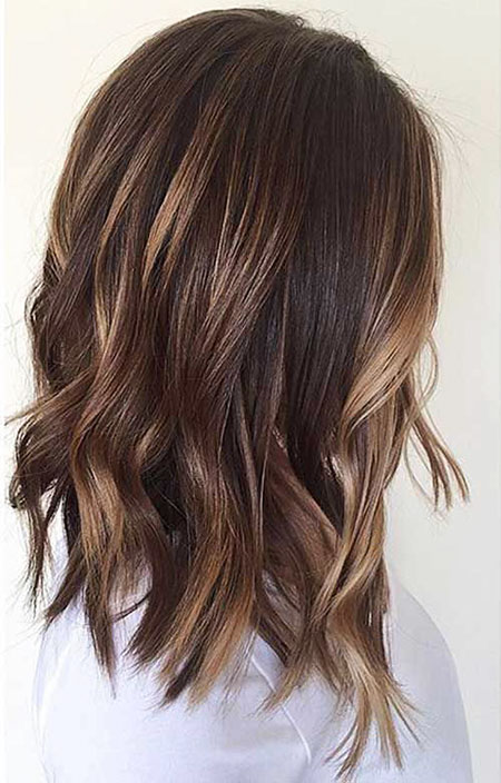 Brown Balayage Wavy Hair