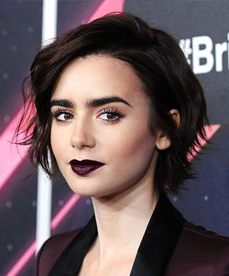 Dark Short Lily Hair