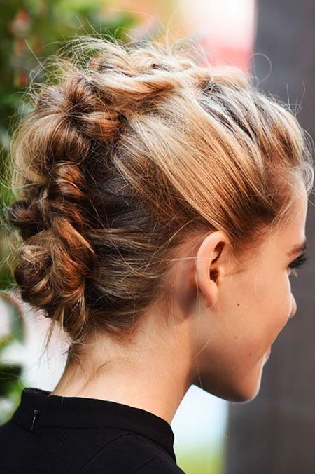 Braided Updo Hair Bun