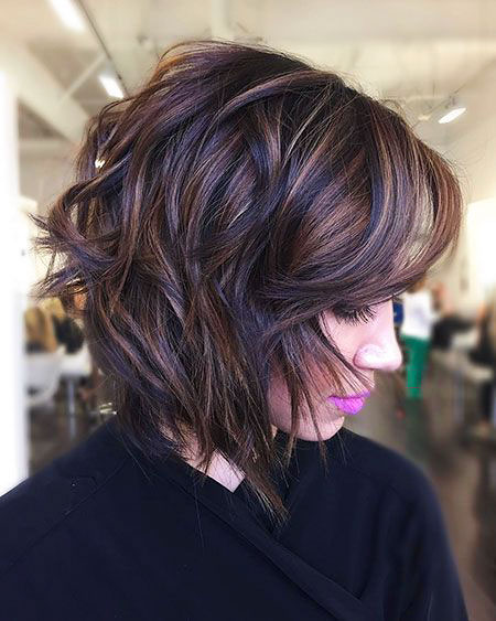 Balayage Brown Bob Women