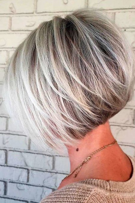 Blonde Layered Bob, Bob Blonde Layered Balayage