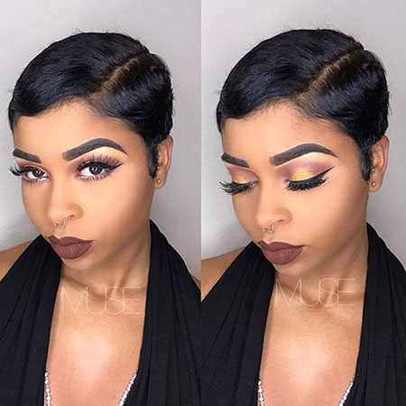 Short Cut Hairtyles for Black Women, Makeup Black Short Smokey