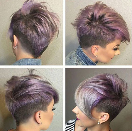 Short Edgy Hairtyles, Short Shaved Pixie Hairtyles