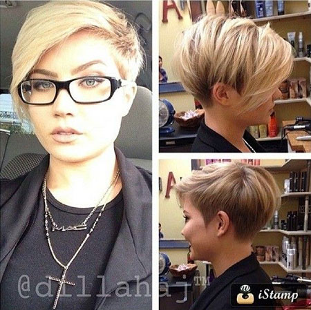 Short Hair with Long Bangs, Pixie Short Simple Undercut