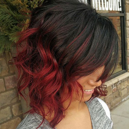 Red Ombre Hair Short