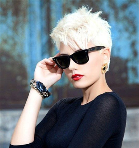 Edgy Pixie Short Hair
