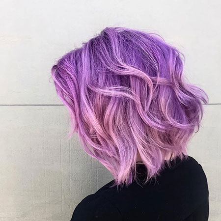 Purple Hair Pink Pastel