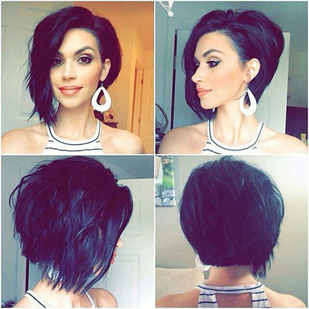 Asymmetrical Short Bob Hair
