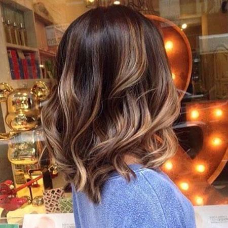 Hair Caramel Highlights Color