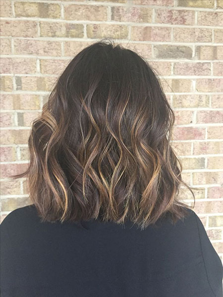 Balayage Brown Hair Short