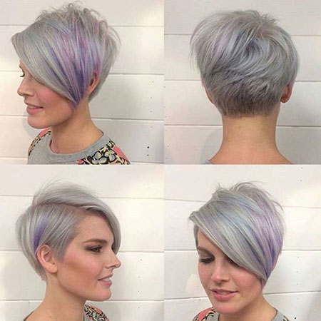 Pixie Short Gray Cut