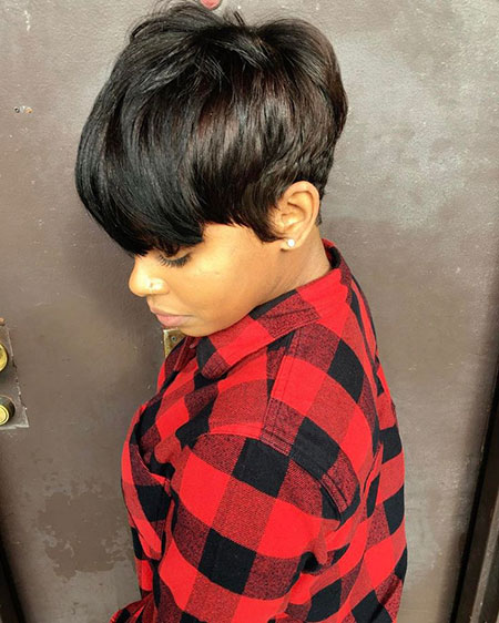 Short Black Pixie 55