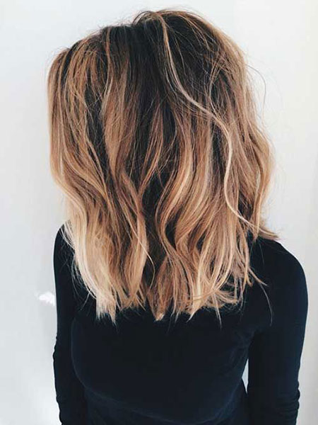 Length Choppy Balayage Hair