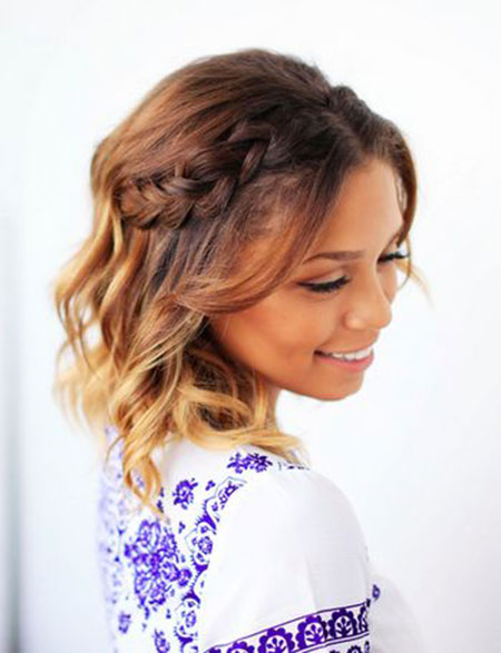 Hair Short Wedding Braided