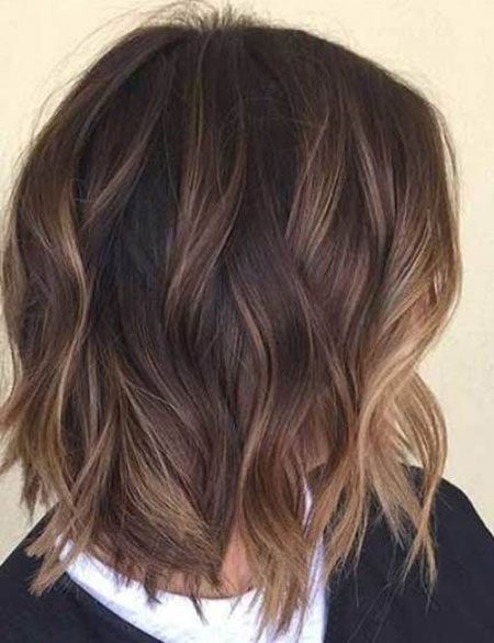 Balayage Hair Brown Short