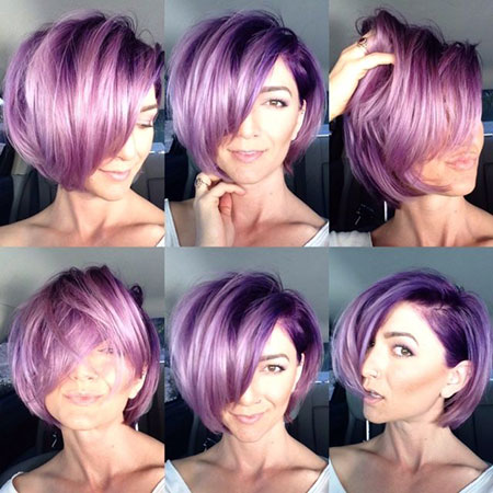 Short Plum Violet Choppy