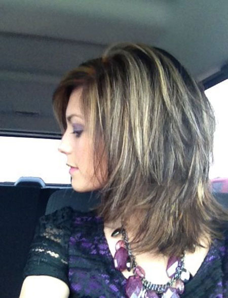 Layered Bob Balayage Medium