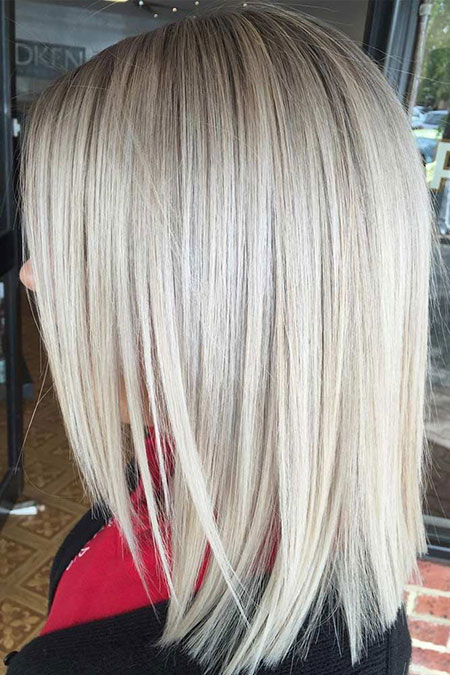 Blonde Hair Length Medium
