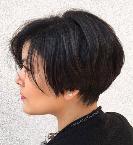 Bob Layered Thick Pixie