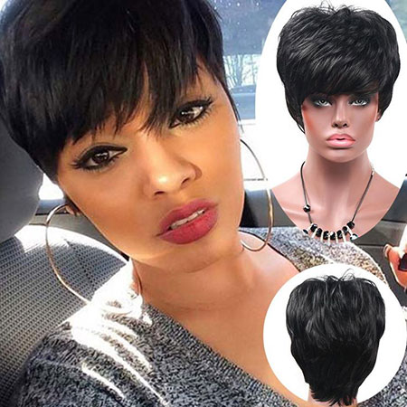 Pixie Cut Black Women, Short Black Pixie Women
