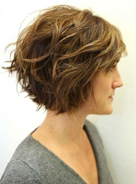 Bob Hair, Short Wavy Thick Medium