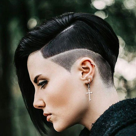 Ruby Rose Haircut, Hair Short Hairtyles Edgy