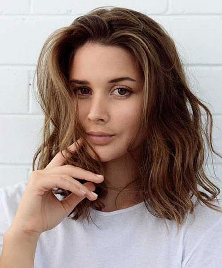 Wavy Hair, Short Medium Length Hair