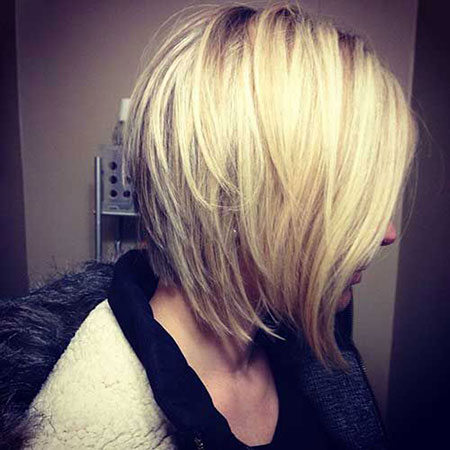 Layered Haircut, Bob Layered Short Balayage