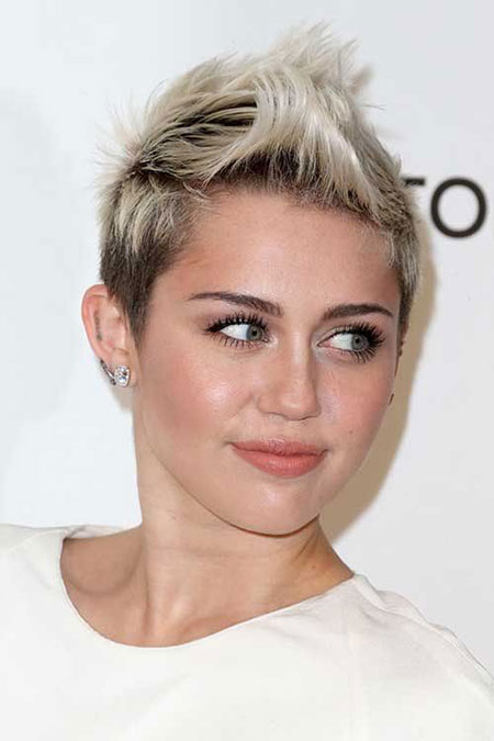 Miley Cyrus Spiky Hair, Short Spiky Cyrus Hair