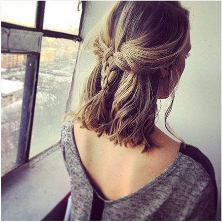 Simple Braids for Short Hair, Hairtyles Short Hair Braid