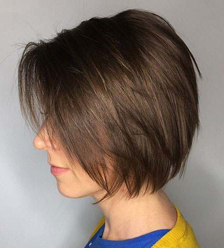 Easy Hairtyle, Bob Short Layered Brown