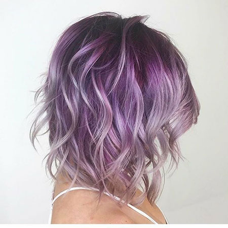 Short Hair 2018, Purple Hair Silver Violet