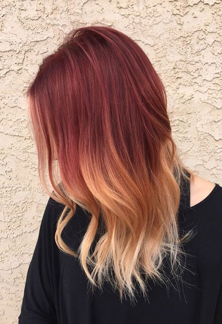 Hair Ombre Gold Red