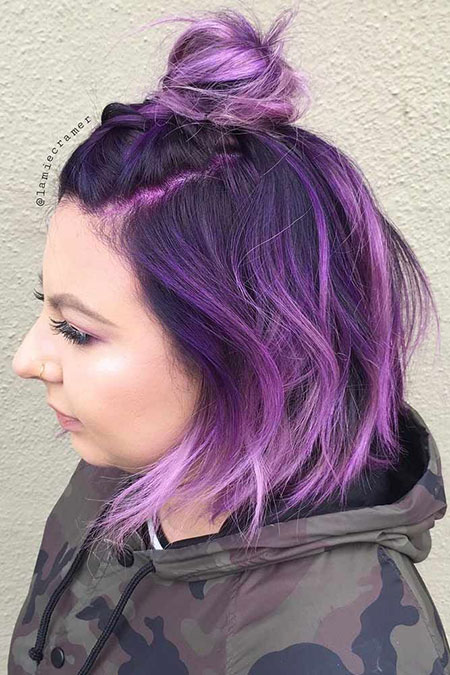Purple Hair Ombre Color