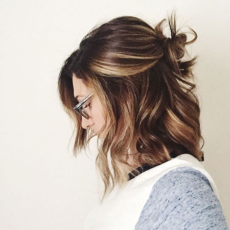 Balayage Brown Highlights Framing