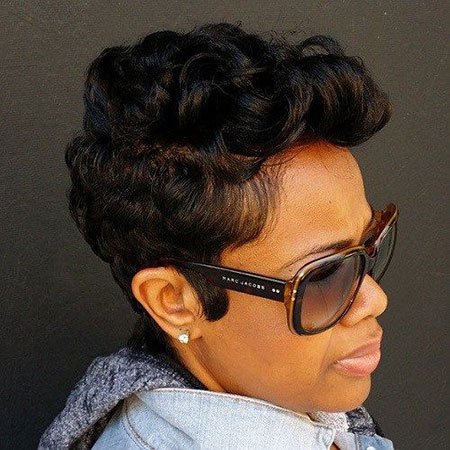 Short Black Pixie Women