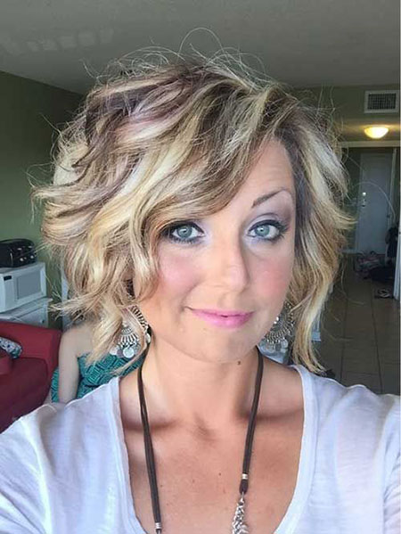 Short Hair Wavy Up